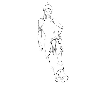 #2 Korra Coloring Page