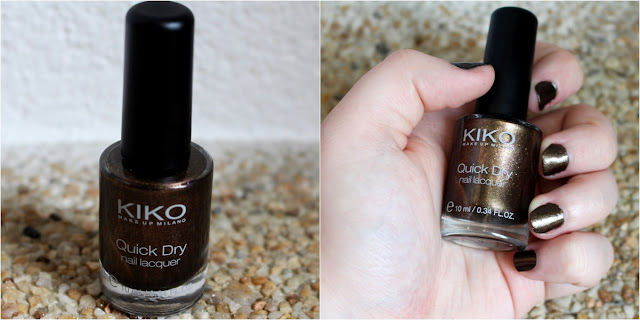 swatch kiko quick dry nail polish 813