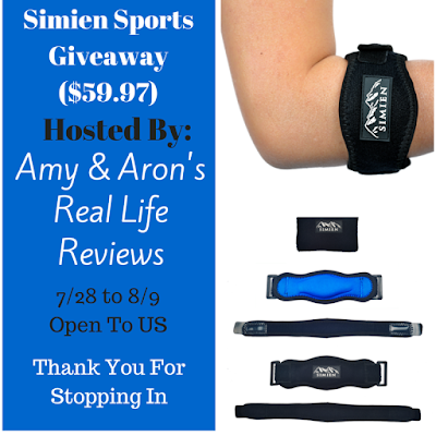Enter the Simien Sports Giveaway. Ends 8/9