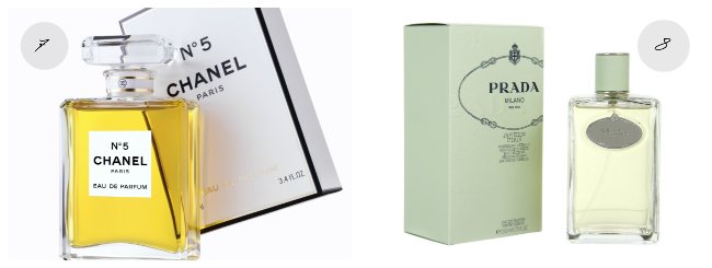 Chanel no5 and Prada Infusion D'Iris