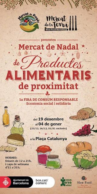1ª Fira de Consum responsable i Mercat de Nadal de productes alimentaris de proximitat a Barcelona