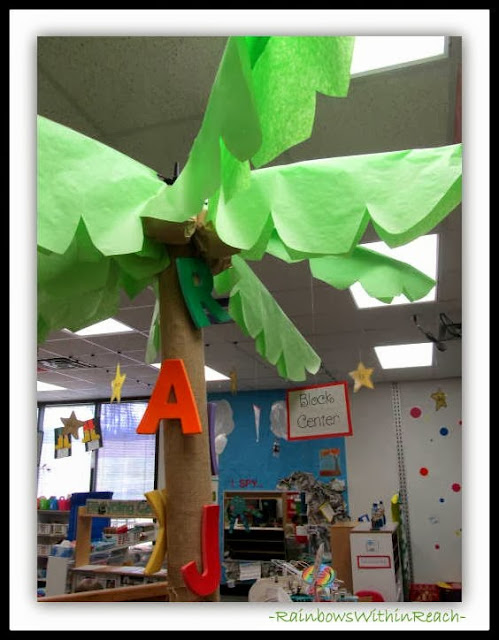 Three Dimensional Life-size Chicka Boom Boom Classroom Tree via RainbowsWithinReach