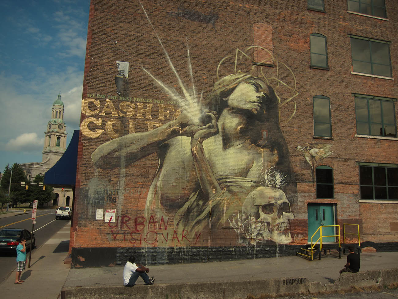 Faith47 rhapsody new mural in rochester usa for Best mural artist