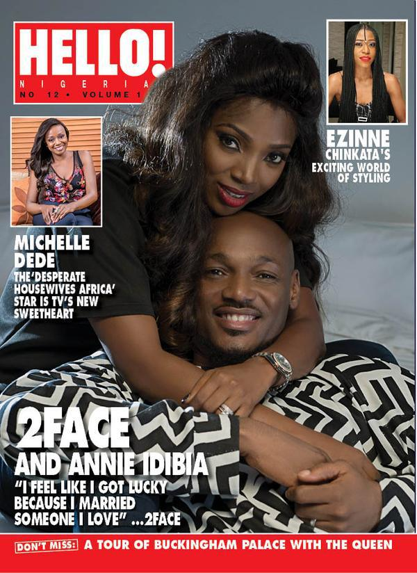 Photos 2face Idibia And Wife Annie Cover The Latest Issue Of Hello Magazine
