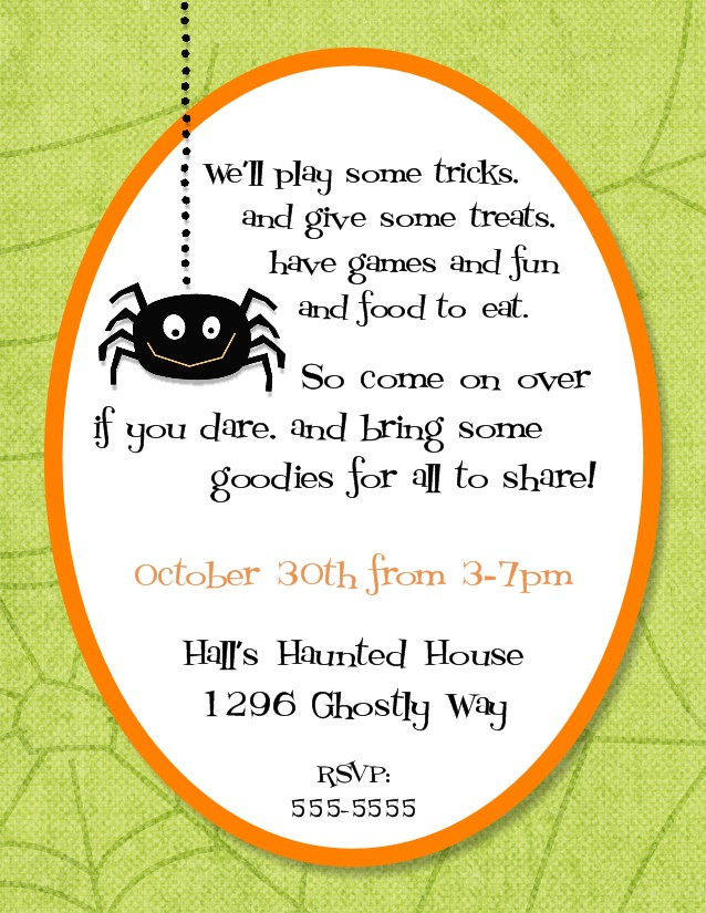 Halloween Potluck Flyer Template Invitation Templates