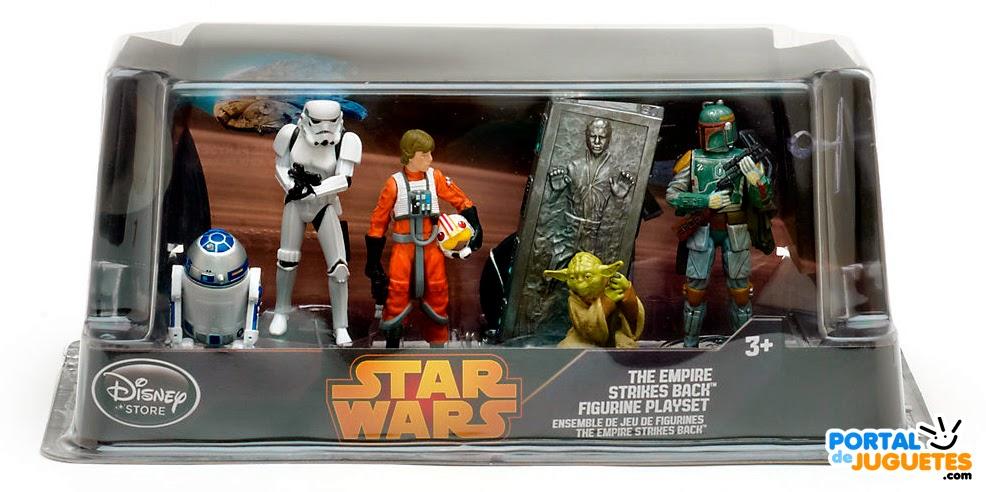 figuras star wars v el imperio contraataca disney store caja