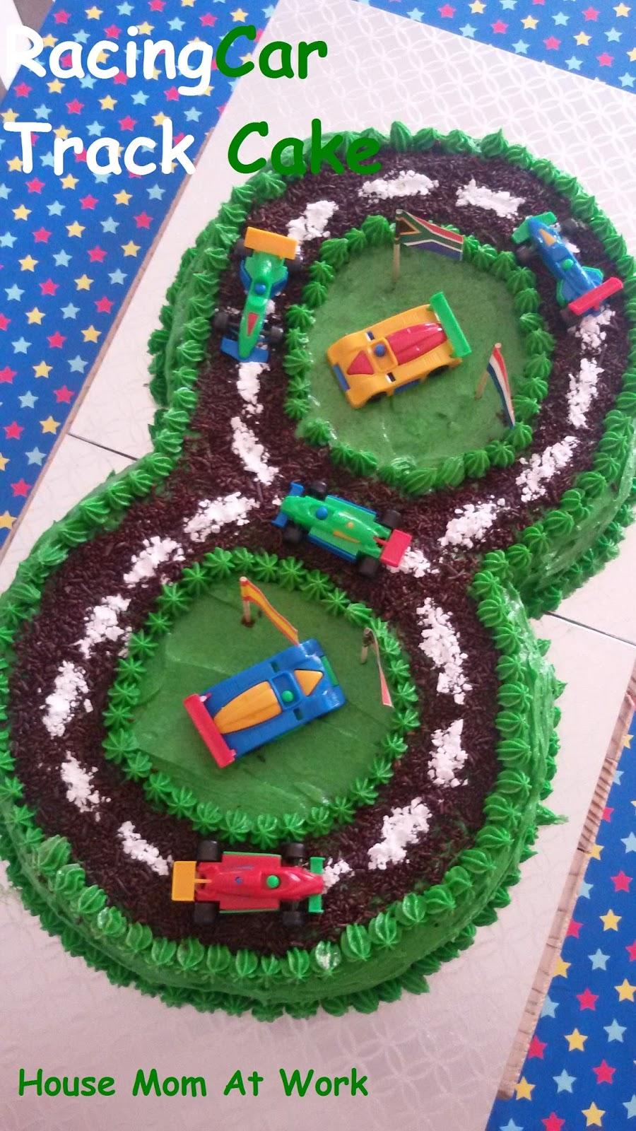 House Mom At Work Eggless Racing Car Track Cake