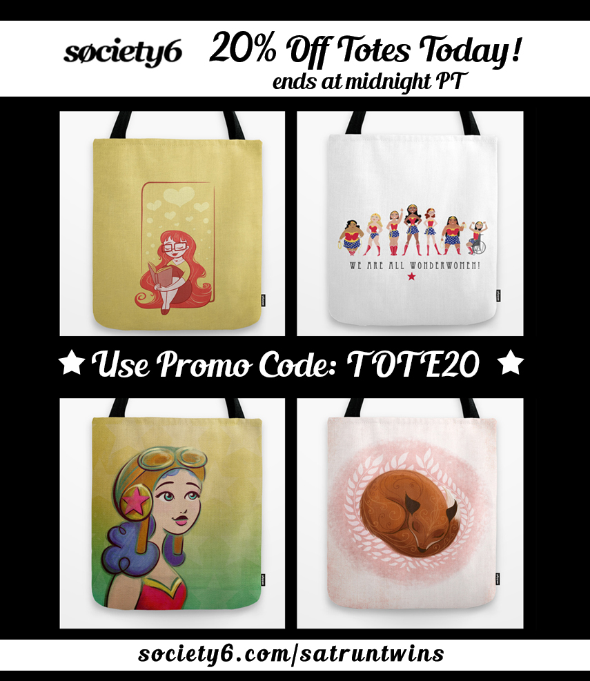Sarah 39 s sketchbook society6 tote sale for Society 6 discount code