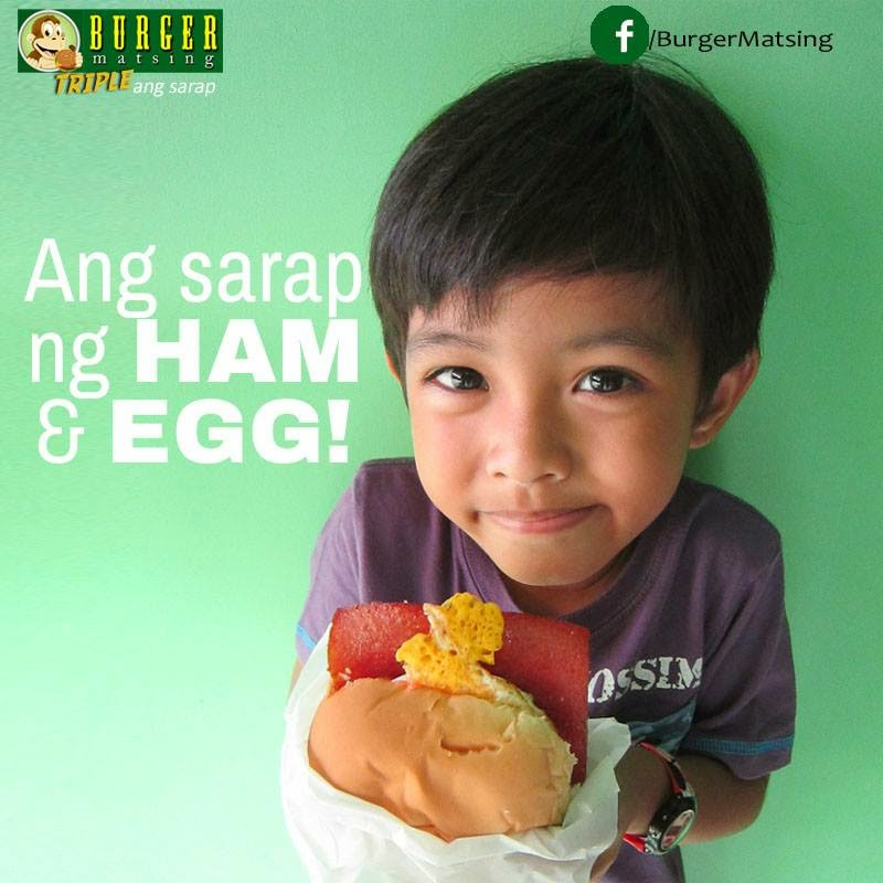 Ham & egg burger