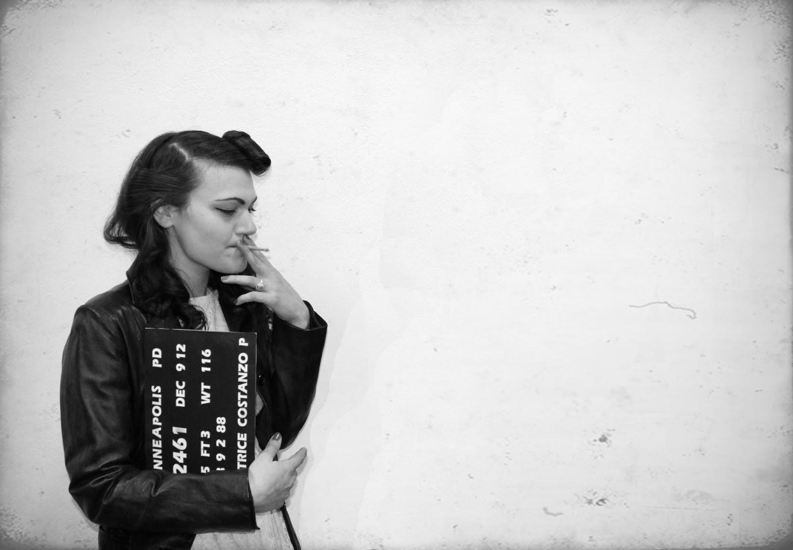 Isadora vintage bad girl mugshot - Retro bad ...