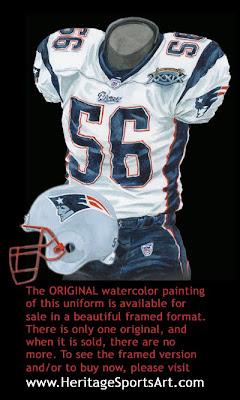 New England Patriots 2004 uniform