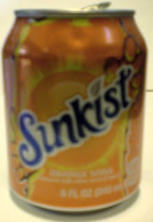 Torso view of the Sunkist mini flame monster can