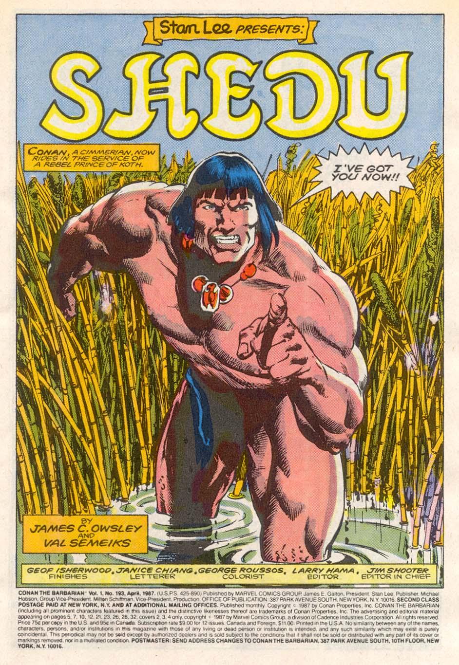 Conan the Barbarian (1970) Issue #193 #205 - English 2