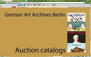 Auction catalogs in the