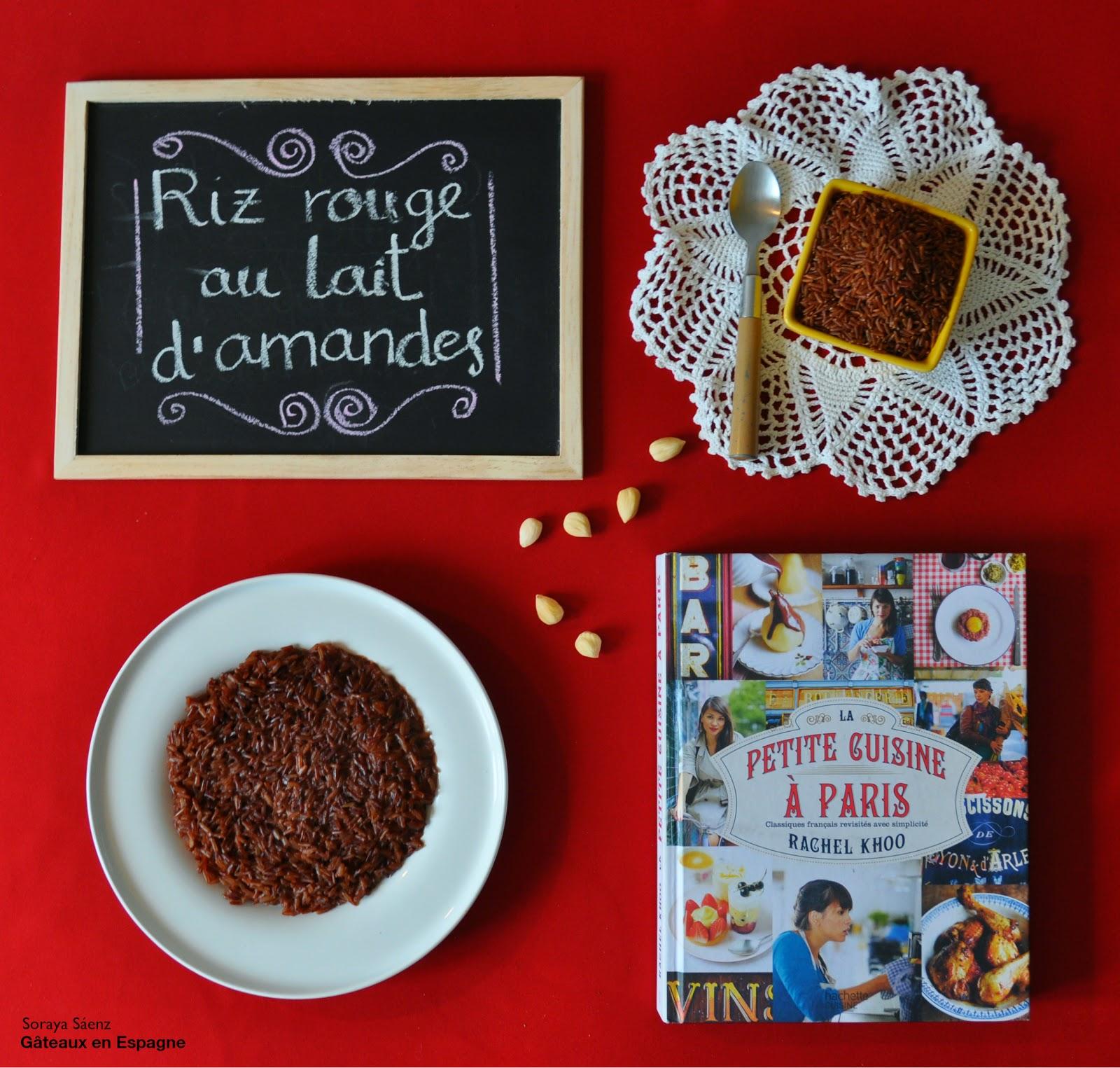 recette riz rouge amandes dessert