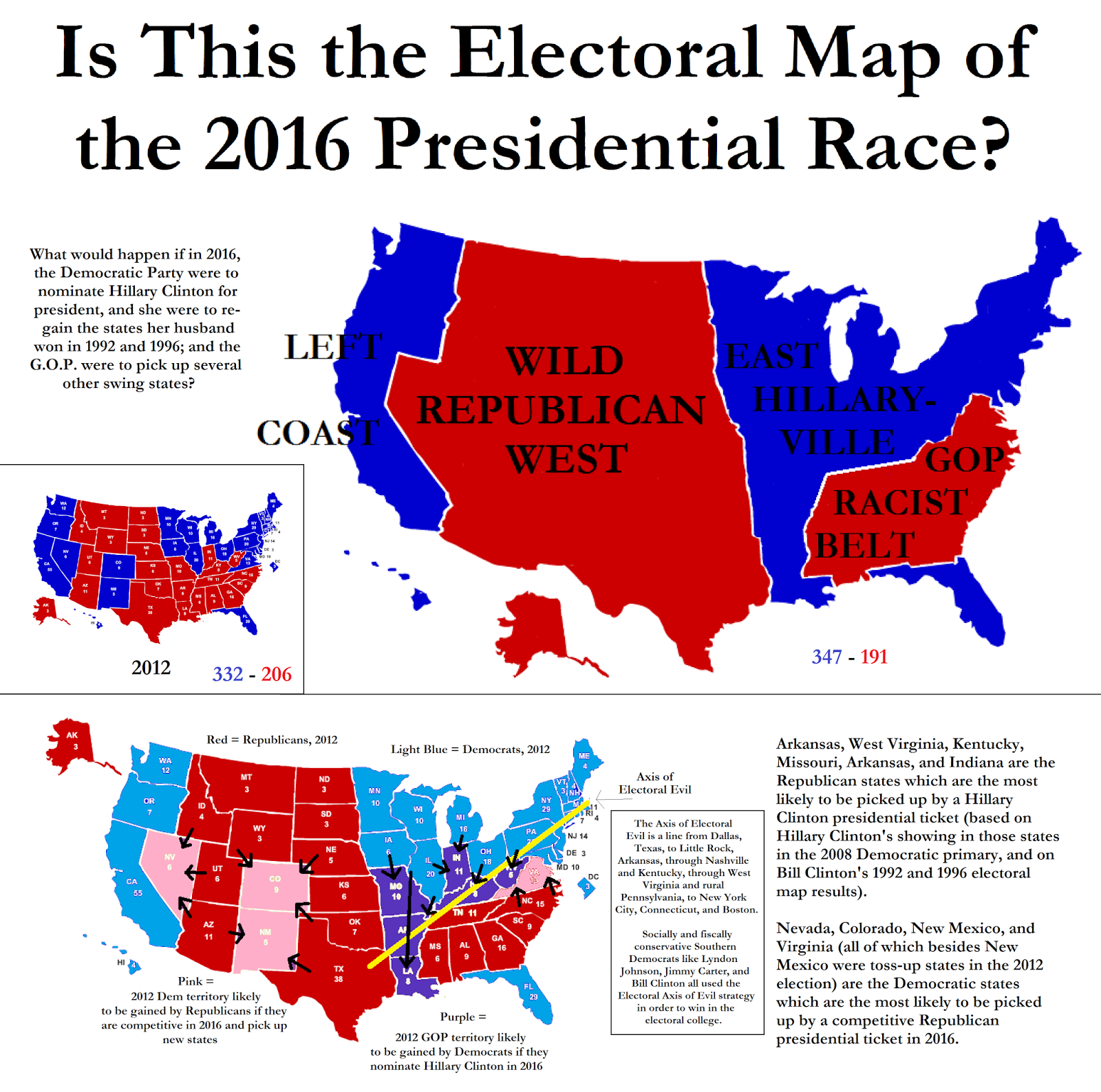 The Aquarian Agrarian Is This The Electoral Map Of The - Map of us without electoral college 2016