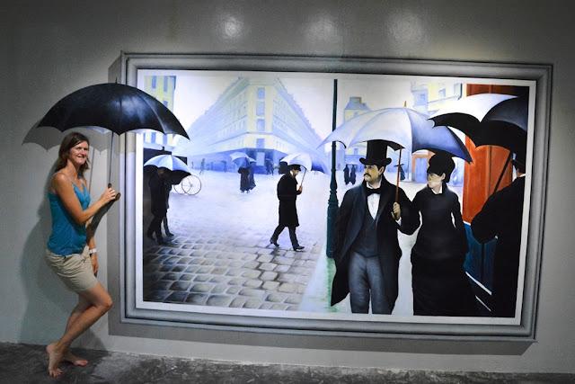 Trick Eye Museum rain