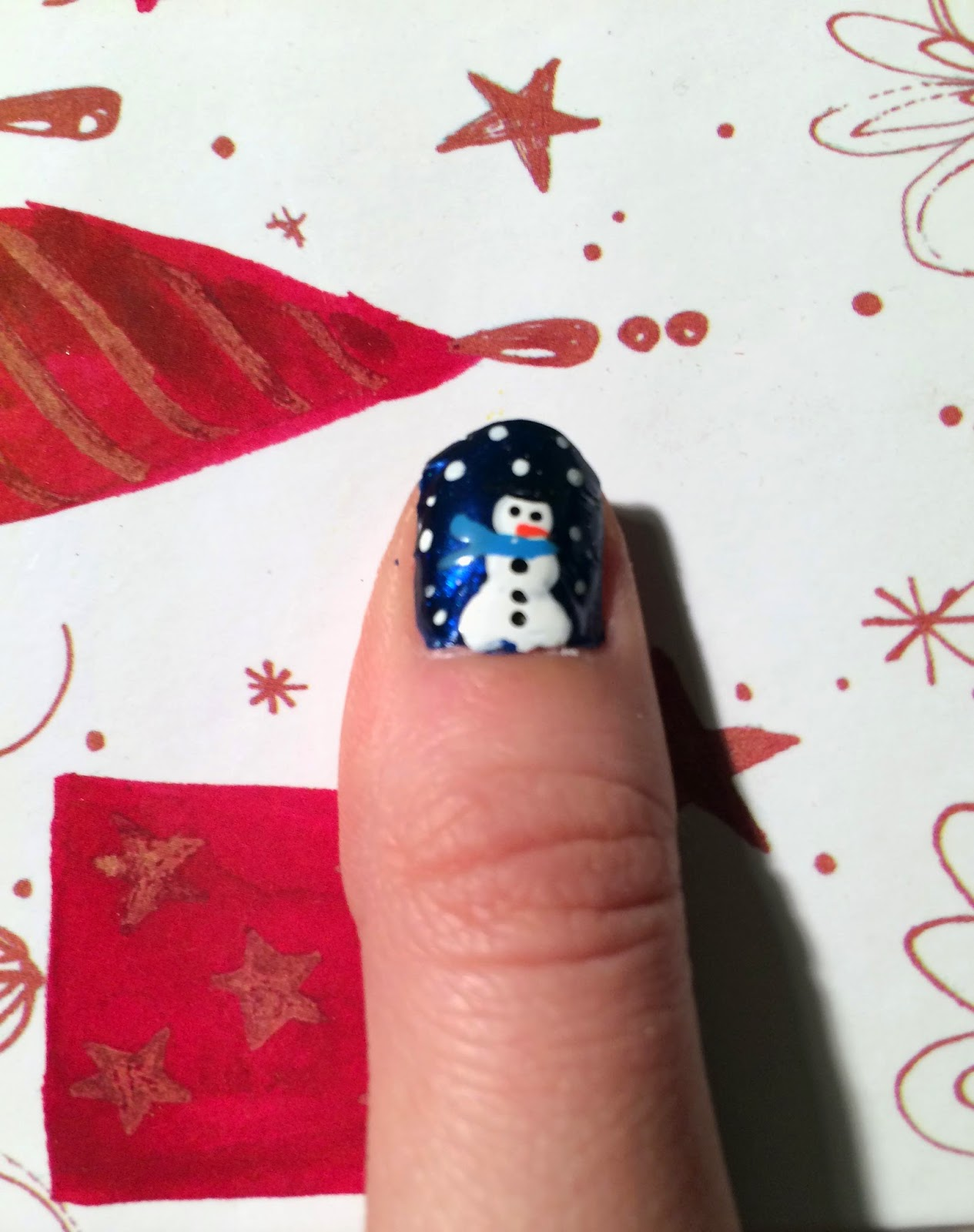 12 Days of Festive Nails: Day 5 - Simple Snowman - Beauty by Birdy