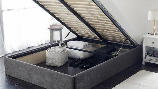 Decco interieur lit coffre box cuir look noir blanc ou - Coffre de rangement interieur ...