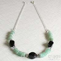 Aventurine Necklace by MagsBeadsCreation