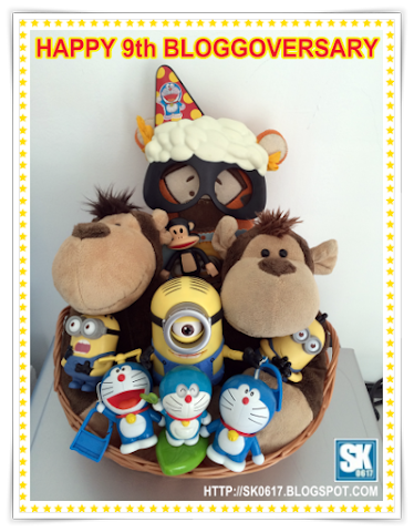 Celebrating 9th Blog Anniversary - Minions, Doraemon, Julius, Fing-Fing, Ben-Ben