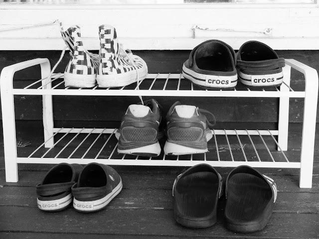 Crocs, Converse, Nike, Adidas