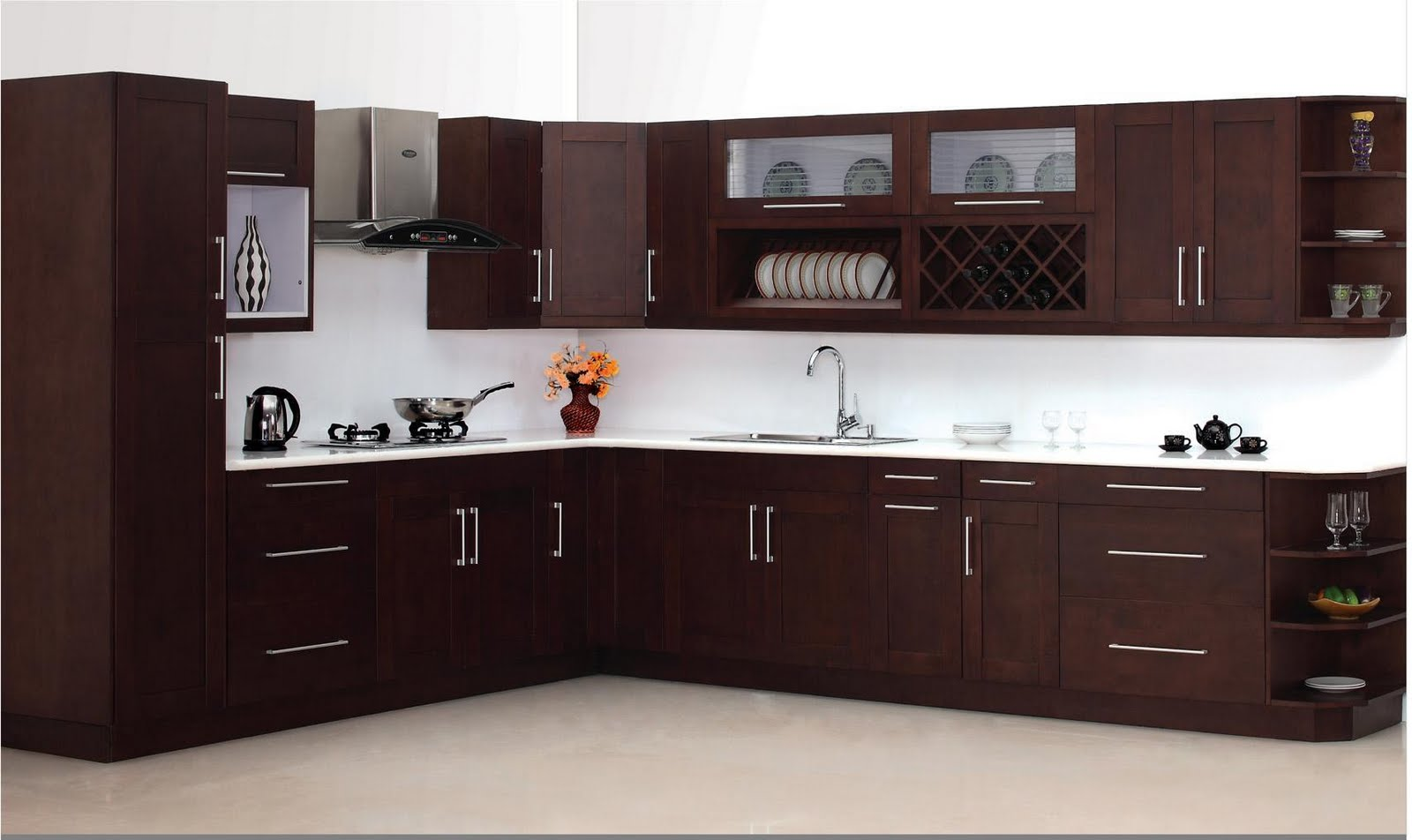 Espresso Maple Shaker Kitchen Cabinets