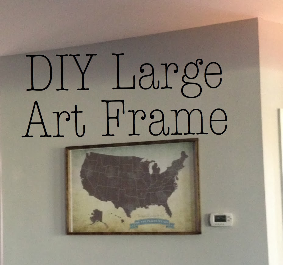 create diy large art frame