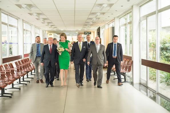 King Philippe and Queen Mathilde of Belgium visited public broadcasting the company for the Flemish region, Vlaamse Radio- en Televisieomroeporganisatie (VRT)