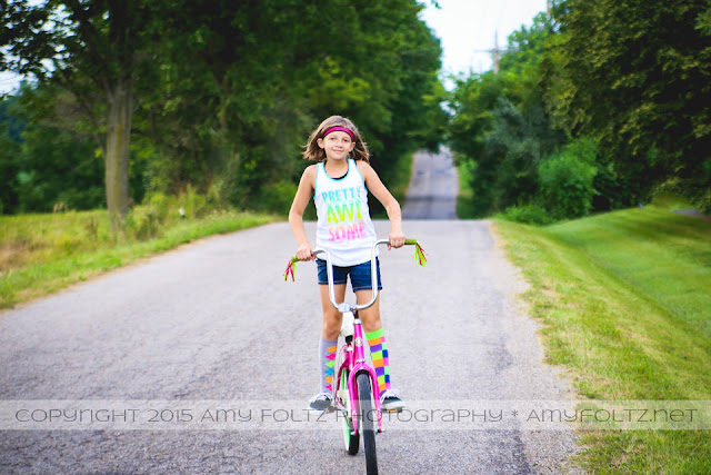 tween bicycle photoshoot