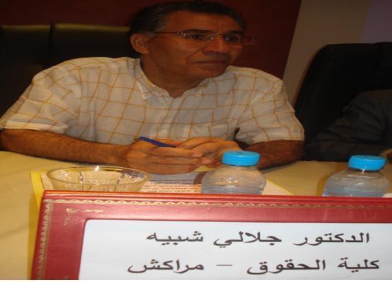 جلالي شبيه، أستاذ في القانون، جامعة القاضي عياض، مراكش