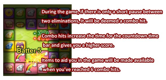Combo hits - Increase Time and Score