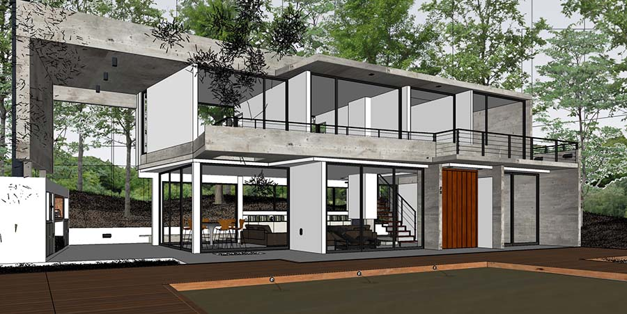 sketchup frame of Fresno House - render By Erick Andree Riverio ...: www.sketchuptexture.com/2015/07/awesome-free-sketchup-3d-model...