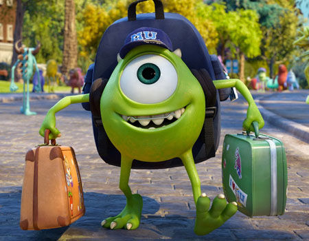 Mike Wazowski Monsters University 2013 animatedfilmreviews.blogspot.com