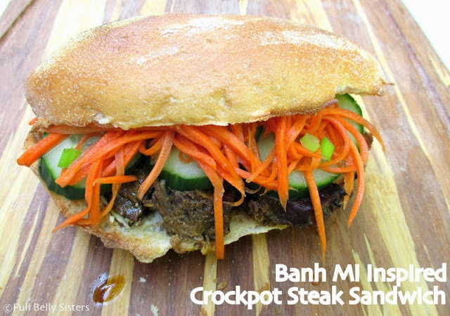 ... : Saucy Mama Giveaway & Banh Mi Inspired Crockpot Steak Sandwiches