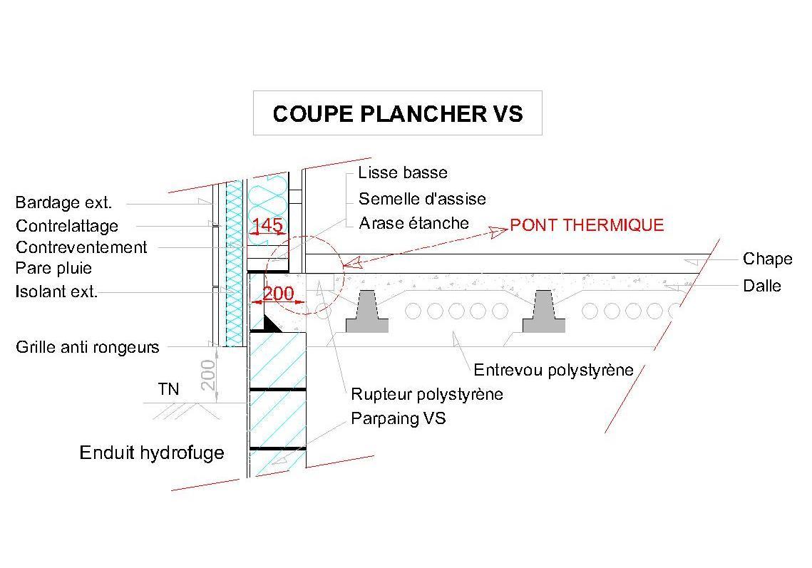 Notre auto construction passive maison ossature bois m o b vide sanitai - Pont thermique ossature bois ...