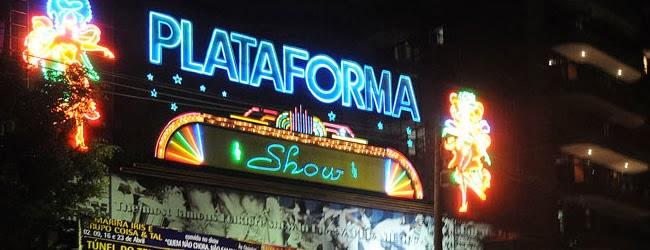 Noite no Rio - Fachada da entrada do Plataforma Show