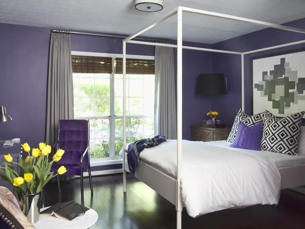 L 39 univers d 39 in s color splash purple for Romantic purple bedroom