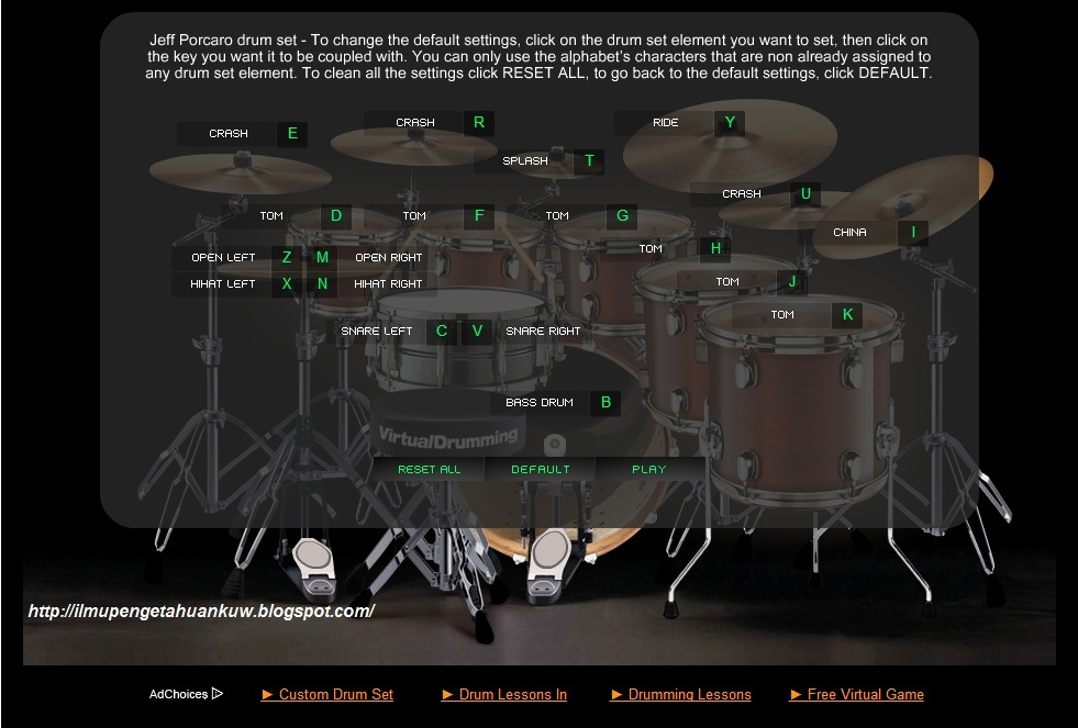 virtual drum online game