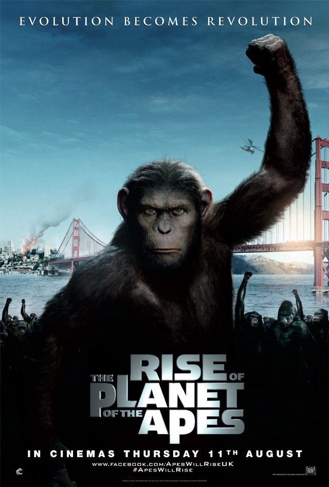 rise of the planet of the apes movie posters