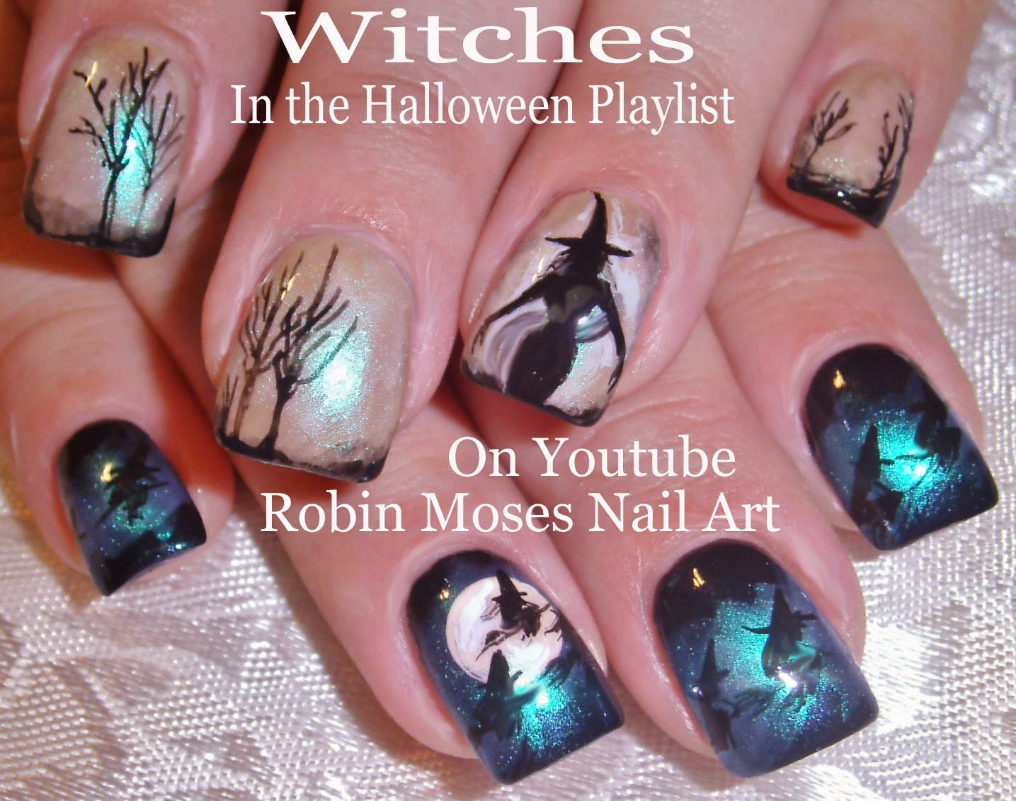 Nail Art By Robin Moses Halloween Nails Halloween Nail Art