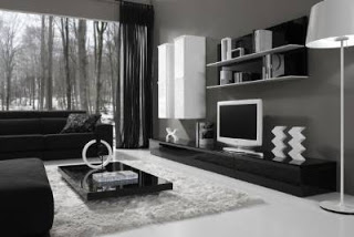 Fotografias de muebles de salon modernos for Salon comedor lacado blanco