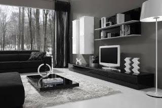 Fotografias de muebles de salon modernos - Mueble salon blanco y gris ...