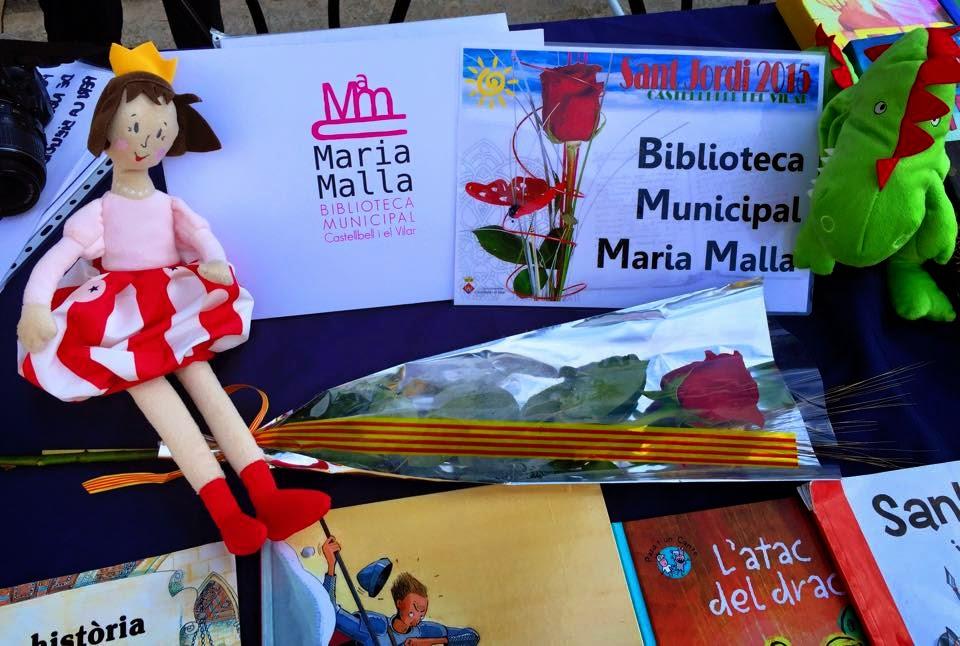 La Biblioteca Municipal Maria Malla participa a la Diada de Sant Jordi 2015