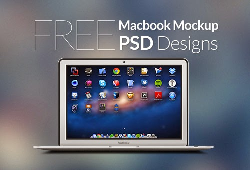 30 Free MacBook Mockup PSD Designs