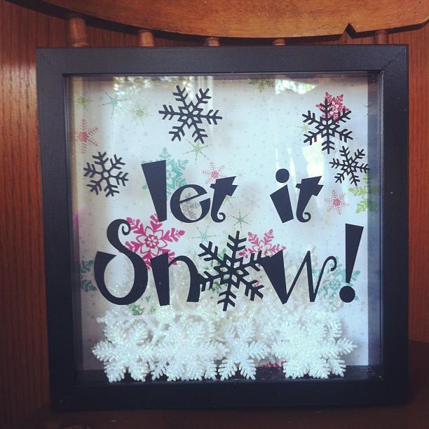Let It snow shadow Christmas Box
