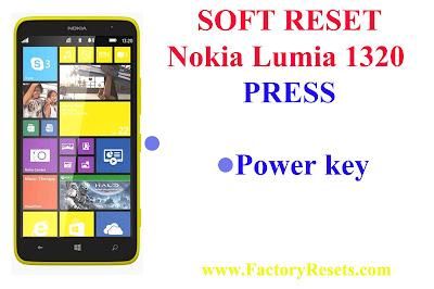 Soft Reset Nokia Lumia 1320