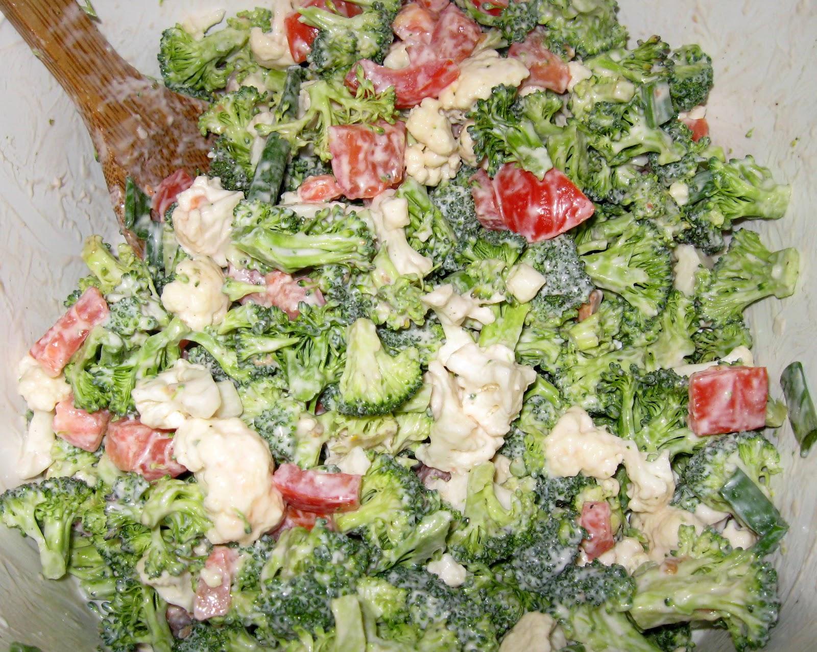 Салаты с брокколиы приготовления