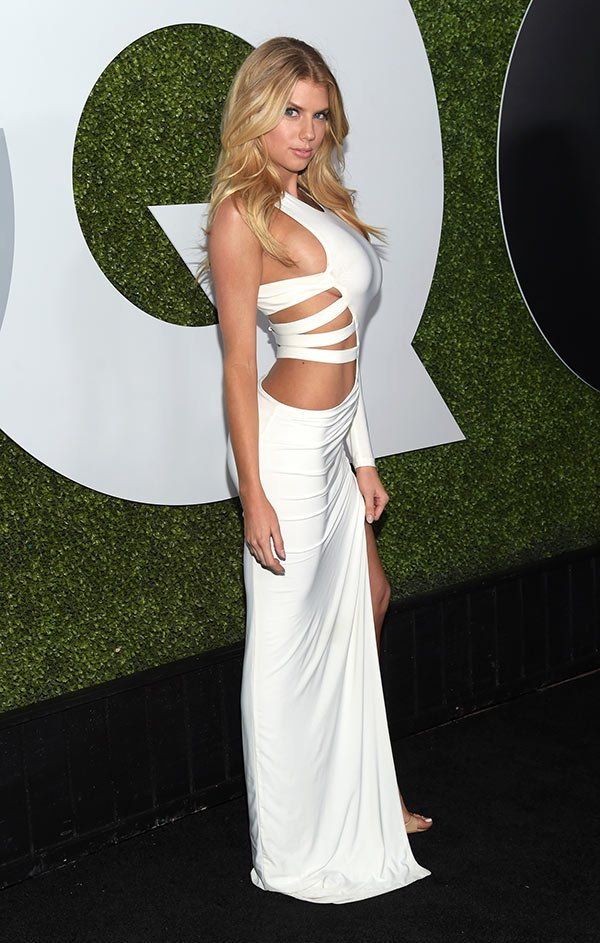 Charlotte McKinney In White Dress Flaunts Major Side Boob At GQ Men Of The Year Party