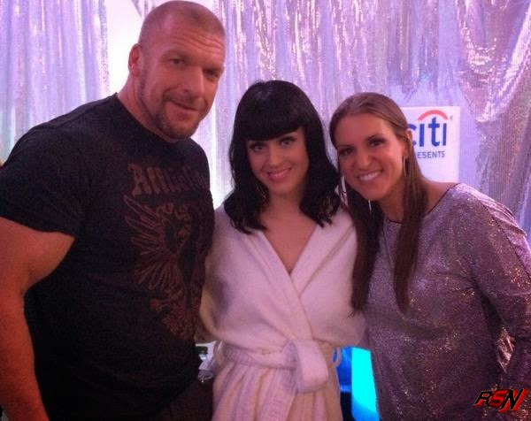 Photo of Triple H and Stephanie Hanging Out with Katy Perry.